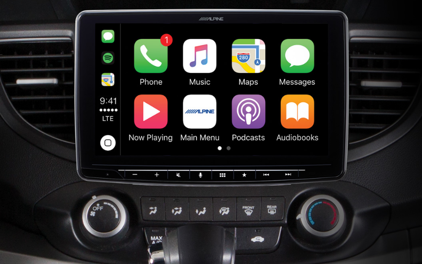 alpine digital media receiver with wireless apple carplay. Black Bedroom Furniture Sets. Home Design Ideas